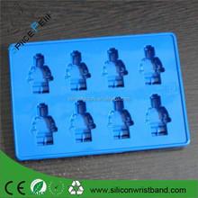 Kabul paypal 8- boşlukları silikon Mini lego şekil buzluk silikon bakeware sabun kalıbı