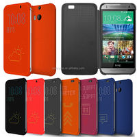 New Leather Dot View Flip GENUINE Case Cover for HTC Smart Phone