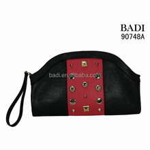 Elegant evening lady clutch bags strap rivets Canton Fair hot selling handbag wallets