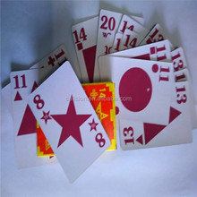 customized famous brand paper playing card