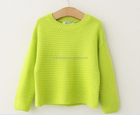 new nice dolman sleeves winter handmade organic sweater for baby girls