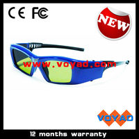New quality 96~144Hz rechargeable cheap dlp 3d glasses work for all vivitek dlp 3d projectors