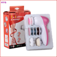 7 In 1 Multi-Function Electric Battery Operated Face Massager Brush/ Electric Vibrating Facial Massager Cleaner