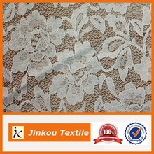 Famous Design Stretch White polyamide elastane 3d Flower Lace Embroidered Fabric For Leggings