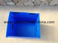 Folded Corrugated Cardboard Box Sealed with Velcro for Transportation Wines and Foods