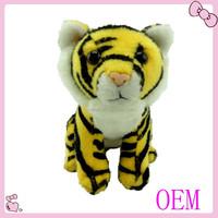 Wholesale customized stuffed tiger toys plush tiger keychain