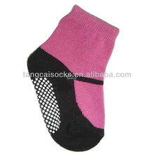 Cotton baby socks with shoe like design with anti-slip dots BS-107