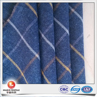 high quality stocklot yarn dyed cotton check flannel fabric