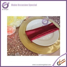 18265 wedding decoration disposable charger plate gold charger plates