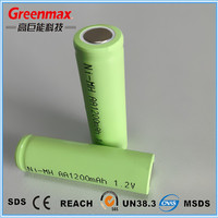 Plastic 1.2v 1200mAh ni-mh rechargeable battery pack