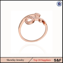 Fashion 14K Gold Ring For Girl Fashion Modern Rings Gold