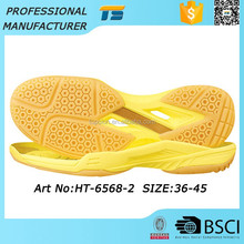 Popular Anti-Slip Shoe Sole Supplier Laddy Mens Badminton Eva Rubber Shoe Heels And Soles For Sport Shoes, One Soles