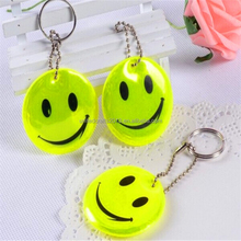 Promotional gifts soft custom reflective pvc key tag