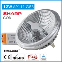Factory direct sale 12W G53 120V 5000k dimmable led light ar111 9w