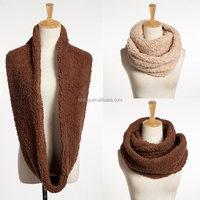 Fashion polyester fake fur infinity scarf
