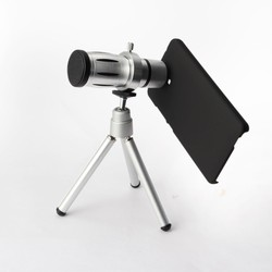 12X Optical Zoom Telephoto Lens With Mini Tripod And Back Case For iPad Mini 1/2Gen