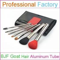 Wholesale High Quality Makeup Brush 7pcs Aluminum Makeup Brush Goat Hair