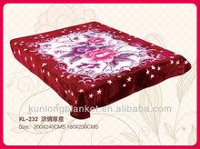 raschel blankets queen size 200X240cm polyester blanket