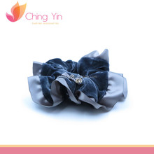 Velvet Satin Small Bow Elastic Hair Band Hair Tie Ponytail holder Scrunchy Hair Accessories for Women