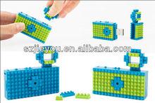 Colorful,Funny,DIY Nano Block USB Mini Toy Digital Camera
