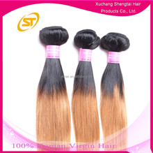Cheap Straight Hair Weave 3 Tone Ombre Colored Hair Weave