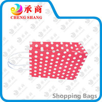 2015 hot sale red wave point eco shopping bag