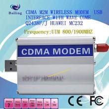 CDMA 800/1900MHZ Dual band Wavecom Q2358C mini gsm modem usb
