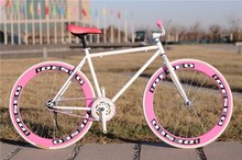 """Fixed gear 26"""" steel bicycle exercising frame"""