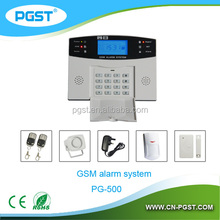 Wireless GSM home security alarm with LCD display , PG-500