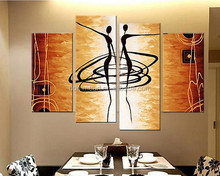 New Arrival! MODERN ABSTRACT OIL PAINTING CANVAS ART Abstract Figures Golden Decoration Oil Painting