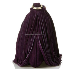 2015 women fancy and trendy Europe suede leather European style fashion modern fringes handbags FA003