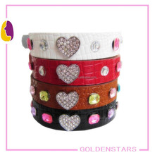 Fashion collar with heart wholesale pet accessories from china