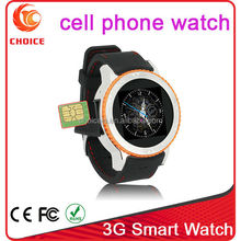 promotional waterproof silicone bracelet watch mobile phone with dual core cpu and android 4.4