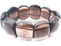 gemstone smoky quartz fashion bracelet
