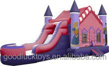King and Queen Designed Inflatable Bouncer&Slide Combo
