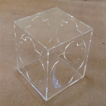 Flower Pattern European Fahion Small Acrylic Square Table