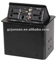 tabletop power socket 2 power+1 network+1 VGA+1 RCA