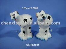 pottery animal s&p-dolomite salt shaker-porcelain cruet