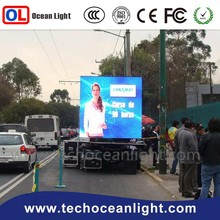 p10 new mobile trucks and trailers advertising led display with Nova controll system