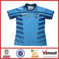 round neck sublimated shirts rugby/superman rugby shirt/sublimated rugby jersey