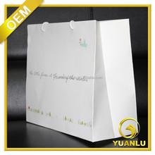custom made white kraft paper handbag for garment