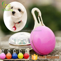 Alibaba Wholesale Pet Dog LED Flashing Drop Pendant Night Walk Dogs Safety Caution Glowing Hang Tag Light DHL