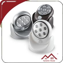 360 degree base rotates PIR motion activated cordless sensor safety light indoor/outdoor sensor wireless lamp