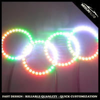 Hot selling China factory RGB color changing sequential halo x rings led lights