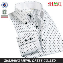 new design 100% organic cotton double collar dotted man shirt