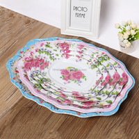 Manufacturers selling melamine plate, bowl of 12 inch lace oval plate New style of good quality
