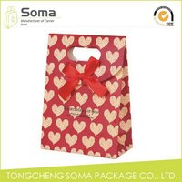 Fashionable latest high end art paper gift bag