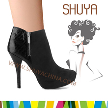 professional woman winter high heel platform patent leather counter fashion boot