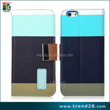 2015 new flip leather case for iphone 6, for iphone 6 wallet case