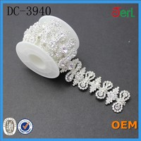 rhinestone chain with acrylic stone for clothing accessories